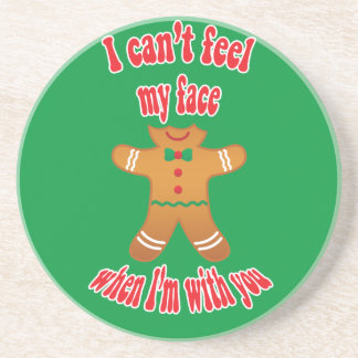 I can't feel my face - funny Christmas gingerbread Drink Coasters