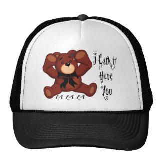 I Can't Hear You Teddy Bear Mesh Hats