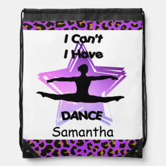 I Can't I have Dance drawstring backpack