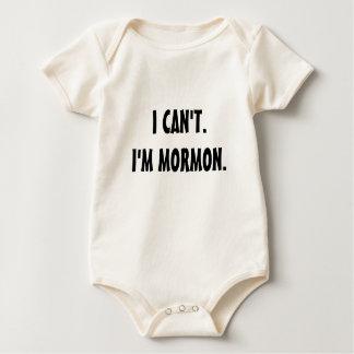 I CAN'T.I'M MORMON. BABY BODYSUIT