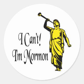 I Can't, I'm Mormon Classic Round Sticker