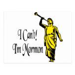 I Can't, I'm Mormon Postcard