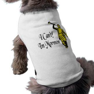 I Can't, I'm Mormon Sleeveless Dog Shirt