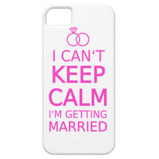 I can't keep calm, I'm getting married Barely There iPhone 5 Case