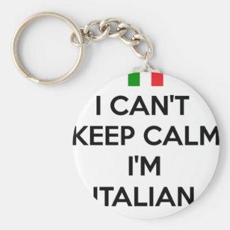 I CAN'T KEEP CALM... I'M ITALIAN BASIC ROUND BUTTON KEY RING