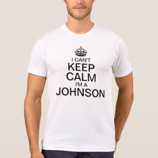 I can't keep calm Personalize Last Name Tshirts