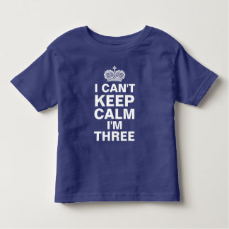 I can't keep calm personalized birthday blue toddler T-Shirt
