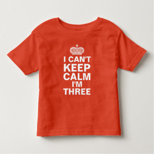 I Cant Keep Calm Personalized Birthday Red Toddler T Shirt