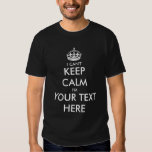 I can't keep calm t shirt | Customisable template