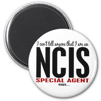 I Cant Tell Anyone NCIS Agent 6 Cm Round Magnet