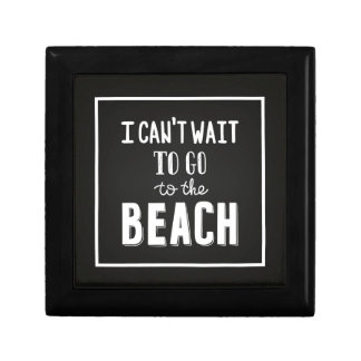 I Can'T Wait To Go To The Beach Small Square Gift Box