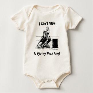 I Can't Wait To Ride My First Pony! (Barrel Pony) Baby Bodysuit
