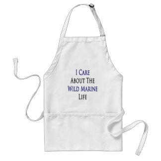 I Care About The Wild Marine Life Adult Apron