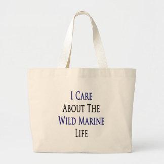 I Care About The Wild Marine Life Jumbo Tote Bag