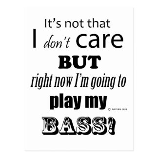 I Care Bass Postcard