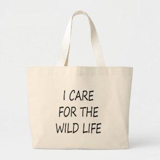I Care For The Wild Life Bag