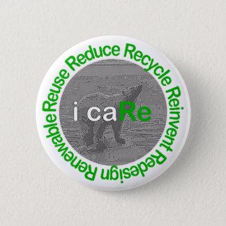 i caRe Polar Bear 6 Cm Round Badge