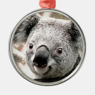 I Care_ Silver-Colored Round Decoration