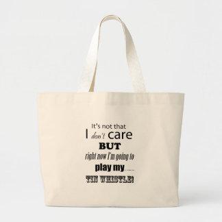 I Care Tin Whistle Large Tote Bag