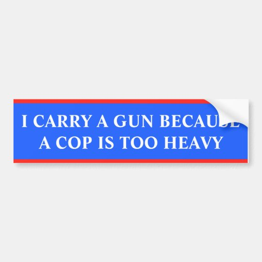 I carry a gun because a cop is