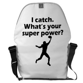I Catch What s Your Super Power Courier Bag
