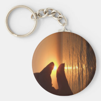 I caught the sun for you basic round button key ring