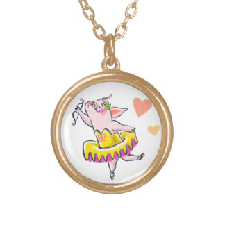 I Caught Your Heart! Gold Plated Necklace