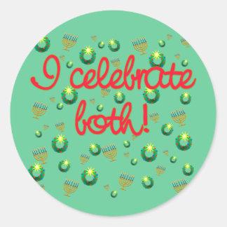 I Celebrate Both Christmas and Hanukkah Sticker
