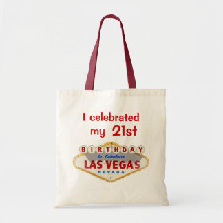 I celebrated my 21st Birthday In Fabulous Las Vega Budget Tote Bag