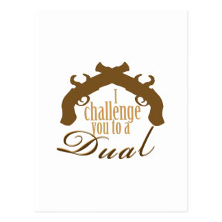 I Challenge You Postcard