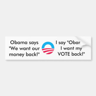 I change my vote bumper sticker