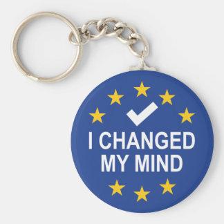 I Changed My Mind Basic Round Button Key Ring