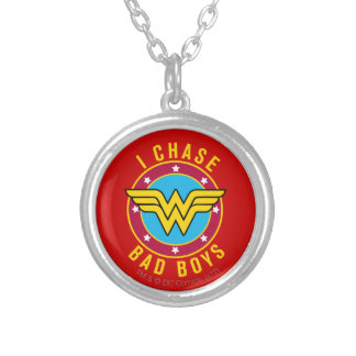 I Chase Bad Boys Silver Plated Necklace