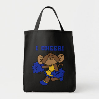 I Cheer Blue and Gold Tshirts and Gifts Grocery Tote Bag