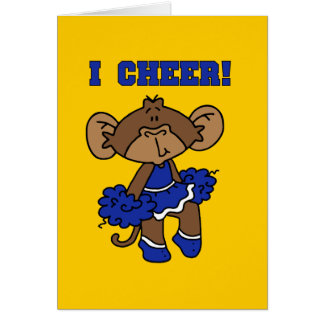 I Cheer Blue and White T-shirts and Gifts Greeting Card