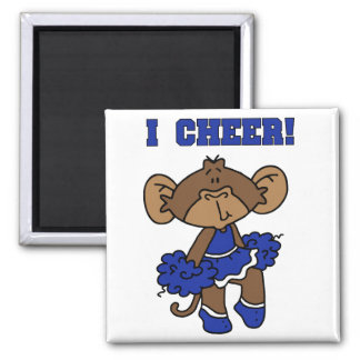 I Cheer Blue and White T-shirts and Gifts Fridge Magnet