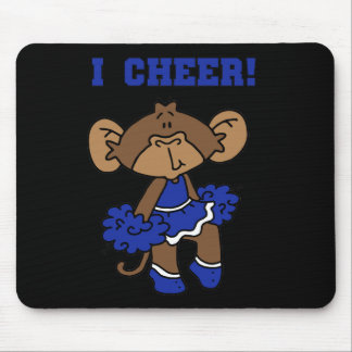 I Cheer Blue and White T-shirts and Gifts Mouse Pad