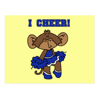 I Cheer Blue and White T-shirts and Gifts Post Cards
