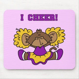 I Cheer Gold and Purple Tshirts and Gifts Mousepad