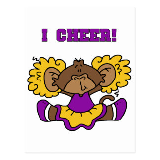 I Cheer Gold and Purple Tshirts and Gifts Postcard