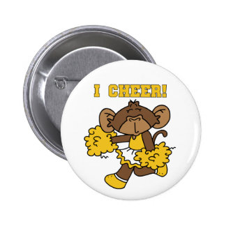 I Cheer Gold and White T-shirts and Gifts Pinback Button