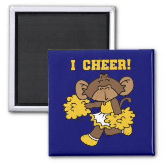 I Cheer Gold and White T-shirts and Gifts Refrigerator Magnet