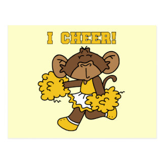I Cheer Gold and White T-shirts and Gifts Postcard
