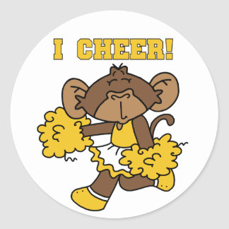 I Cheer Gold and White T-shirts and Gifts Sticker