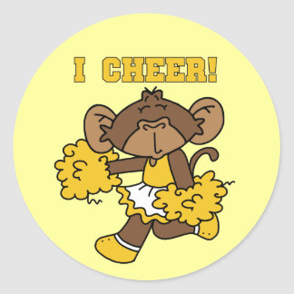 I Cheer Gold and White T-shirts and Gifts Stickers