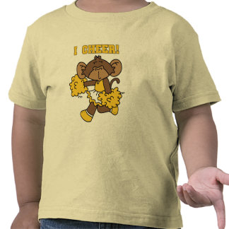 I Cheer Gold and White T-shirts and Gifts