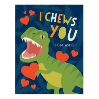 I Chews You! Classroom Valentine Postcard
