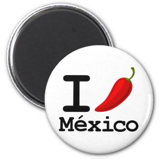 I Chili Mexico 6 Cm Round Magnet
