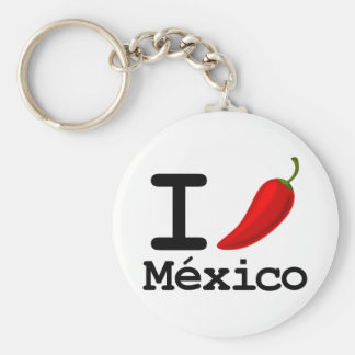 I Chili Mexico Basic Round Button Key Ring