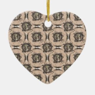 I-Ching Buff Design Ceramic Heart Decoration